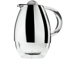 Guzzini Look Caraffa Termica, PMMA/Plastica/TPR/ABS Chrome finish/Insulating glass, Cromato, 21x16x24 cm