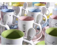 Ideapiu 12 Tazzina da caffè in Ceramica Colorata con piattino