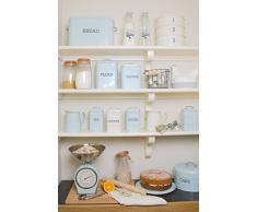 Kitchen Craft Living Nostalgia - Contenitore Porta Pane in Acciaio, Colore: Blu