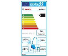 Bosch BHS4N3 Flexa Scopa Elettrica con Sacco, Colore Blu Metallizzato