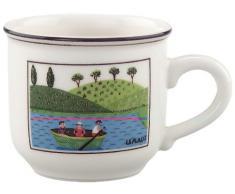 Villeroy & Boch Design Naif Tazzina da caffè, 100 ml, Porcellana Premium, Multicolore