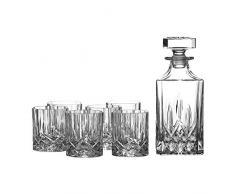 Royal Doulton, Set con decanter e bicchieri di cristallo, 7 pz., design elegante, Trasparente