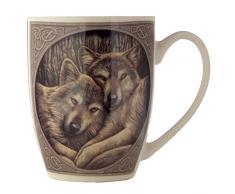Puckator - Tazza in porcellana fine, motivo: lupi di Lisa Parker, con confezione