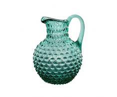 Chehoma Caraffa Cristallo Punte di Diamante Verde Acqua 23 x 17 x 19 cm