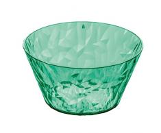 koziol 3573635 Crystal 2,0-Ciotola, in plastica Trasparente/Verde Menta, 13 x 13 x 5,7 cm, 0,7 L