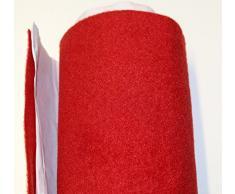 Moquette adesiva liscia da 65x151 cm di colore rosso