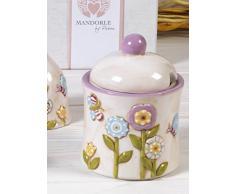 Zuccheriera collezione SprinTime di Mandorle cm. 12 bomboniera ceramica