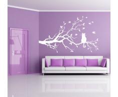 Adesiviamo Cat On Tree L Adesivo Murale, PVC, Nero, 120 x 48 cm