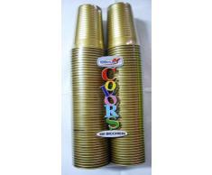 BICCHIERE PLASTICA COLOR ORO PZ 100