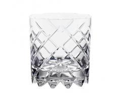 """Bicchiere da whisky, collezione """"ROULETTE NO. 5"""", calice acqua, cristallo trasparente, 10 cm (GERMAN CRYSTAL powered by CRISTALICA)"""