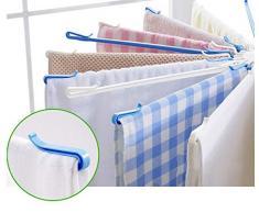 Nosterappou Stendibiancheria rotante, asciugatura multifunzione, porta pannolini a forma di ombrello, portasciugamani in plastica per uso domestico, può essere ruotato di 360 gradi, asciugatura multi-