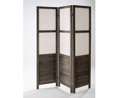 Separè paravento divisorio in legno scuro 3 ante arredo casa 132x6xH170 659-2