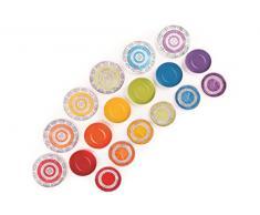 Excelsa Etno Color Servizio Piatti 18 Pezzi, Porcellana, Multicolore