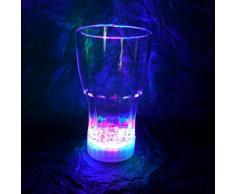 Decotrend-Line Tumbler Alto Bicchiere Coca Cola in Plastica con LED, 300 mL