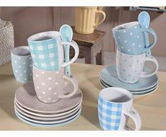 Ideapiu 9 Tazzina da caffè con piattino e cucchiaino in Ceramica