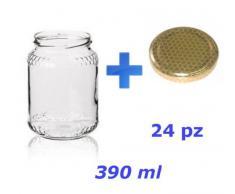 VASETTO in vetro per MIELE 500 g -390 ml - Conf. da 24 pezzi
