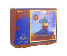 Paladone E1059189 Aladdin Egg Cup | Piatto Moquette Magico Effetto levitante | portauova e Topper con Design Genie, Silicone, Multicolore
