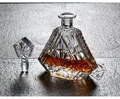 Diy Family Store ® Whisky Decanter Set,Bicchieri di Whisky ,Cristallo di Regalo in Cristallo. 7 Set, Regalo Perfetto e Riunione della Famiglia