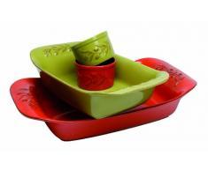 Quid 2046009 - Pirofila rettangolare Rigatoni World Food Italia, in ceramica, colore: verde, 42 x 25 cm