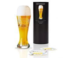 Ritzenhoff 1020212 bicchiere da birra, Cristallo, Marrone/Blu/Oro, 8.5 x 8.5 x 23 cm