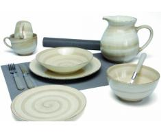 Quid 2058078 - Set di 6 tazze in porcellana Paysanne da 35 cl, colore: Beige