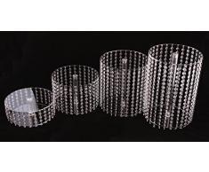 Alzata per torte per matrimonio, 4 piani, in Plexiglas con barra in alluminio, Ø 28 cm