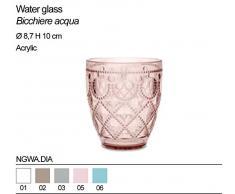 Bicchiere acqua BACI MILANO in acrilico NGWA.DIA vari colori