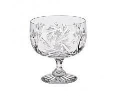 "Coppa per gelato, bicchiere per cocktail ""Schleuderstern"" , 300 ml, trasparente, cristallo, stile moderno (GERMAN CRYSTAL powered by CRISTALICA)"