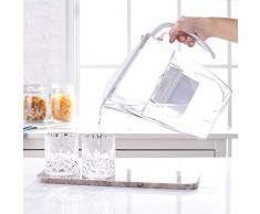 AmazonBasics - Caraffa filtrante per l'acqua, 2,4 l, bianco