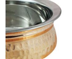 Che servono piatti in acciaio inox ciotola zuppiera rame per antipasti, diametro 12,5 centimetri