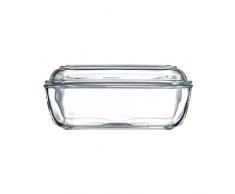 Luminarc 60118 Burriera con coperchio, vetro, 17 x 10,5 cm, 1 pezzo