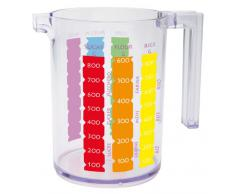 Zak ! Designs 0025-D171 - Caraffa graduata per solidi/liquidi SAN, colore: Multicolore