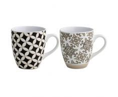 Brandani 53177 Alhambra Tazza, Set 2 pezzi, Stoneware multicolore