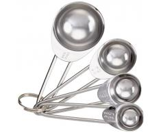 Kitchen Craft Set 4 cucchiai dosatori in acciaio INOX