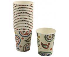 Villa d'Este Home Tivoli 2301715 Cachemire Set 20 Bicchieri di Carta