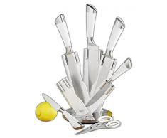 Esmeyer Set coltelli QUASERE da 7 pezzi in acciaio inox, con manici in gomma bianca, lame in acciaio speciale