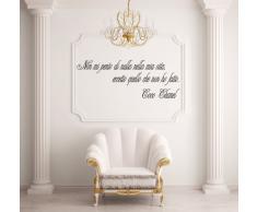 Adesiviamo Coco Chanel L Adesivo Murale, PVC, Nero, 120 x 38 cm