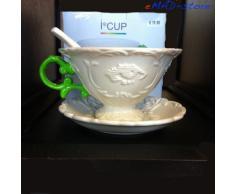 Set da tè seletti tazzina vassoio e cucchiaino i wares idea regalo manico verde