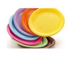 Piatti in plastica rigida colorati 30 pz DOpla - viola