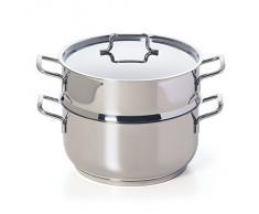 Excelsa Cooking Light Plus Vaporiera, 22.0 cm, Acciaio, Argento