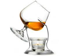 Cognac e brandy Più caldo con un bicchiere di drink bar @ roba | con il brandy di vetro , Stand per Brandy Warmer , candela e tealight titolare - vetro balloon , cognac , cognac , armagnac o calvados , brandy caldo