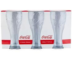 Casa più, Set da 3 Bicchieri Coca Cola 35 cl