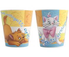 Home Disney Aristogatti Bicchiere in Melammina, Multicolore, 190 cc