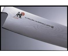 Miyabi, 7000D, Coltello da Cucina Giapponese Santoku, con Lama Damascata a 65 Strati da 180 mm in Acciaio CMV60, Impugnatura Tradizionale, Acciaio e Micarta