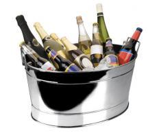 Lacor - Ampio secchiello da champagne, in acciaio INOX 18/10, misure 61 x 43 x 28 cm