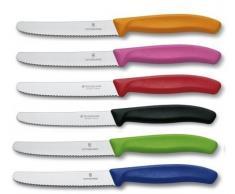 Victorinox - Set di 6 coltelli da tavola con Manici Colorati