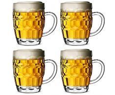 Bicchiere da Birra in Plastica Policarbonato CE 568ml Set da 4