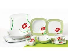 40 pezzi Combi Servizio per 6 persone: servizio da tavola + caffè set, Angela TK-982 porcellana