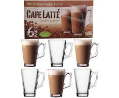 Seri per amanti del caffè Cafe Latte bicchieri 240ml (Confezione da 6)