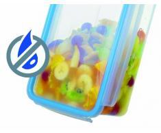 Rotho Contenitore salvafreschezza Clic & Lock, contenitore salva aroma con coperchio, capienza 1 l, scatola trasparente in materiale plastico (16.1x12x11.9 cm) con chiusura a clip, contenitore per alimenti privo di BPA, lavabile in lavastoviglie